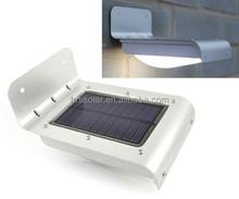 STAINLESS LED SOLAR SECURITY WALL LIGHT, SPOTLIGHT, PIR SENSOR OUTDOOR GARDEN LAMP