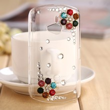 2015 Luxury Pearl Rhinstone Rhinestone Bling Flowers Case Design Cell Phone Cases Wholesale