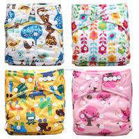 2015 Christmas Baby Printed Nappy Waterproof PUL Reusable Cloth Baby Nappy