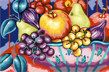 2015 diy painting by numbers hot sale fruit basket painting