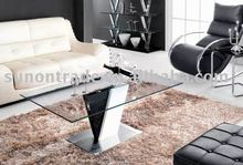2012 model tempered glass side table for living room