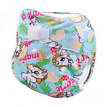 New Lovely Cat Baby Cloth Diaper Washable Reusable Nappy