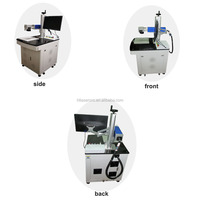 20w 30w pet tag/jewelry/rings/watch optical fiber laser marking engraving machine with rotary device
