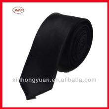 Wholesale black men necktie in made silk fabric for shirt decoration
