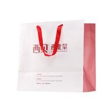 Luxury Recycled Silk Rope Handle Custom Printed Shopping Bags, Kraft Paper Shopping Bags Wholesale