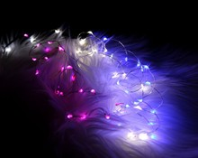 CE&ROHS Waterproof Copper Wire Led String Lights CR2032 Battery Operated For Wedding Table And Centerpieces Decoration
