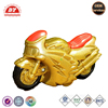 Gold plastic toy mini motorcycle