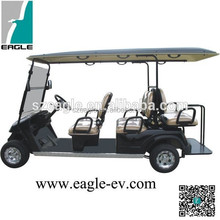 6 seater electric golf cart with Folding windshield CE approved four wheel with long roof EG2048KSF