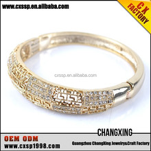 2015 The selling noble famous diamond brand name gold bangles
