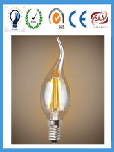 Led filament bulb candle E14