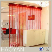 red polyester string curtain vertical blinds