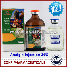 Metamizole sodium / Analgin 50% injection with gmp certificate factory