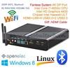 Thin Client PC Desktop i7 Support 3D Blue-ray 4K HD Win7/8 4G RAM 16G mSATA SSD 500G HDD Dual Antenna WIFI 300M