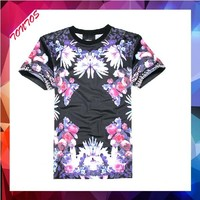 elongated brand sublimation custom made t-shirts for men
