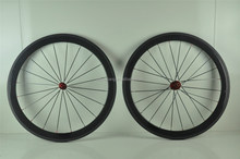 wholesale carbon road bike 50mm wheels clincher rims aluminum braking surface carbon wheels