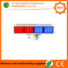 red and blue solar flashing led warning light bar