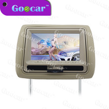 Universal portable car headrest pillow DVD player 7 inch lcd Headrest DVD Monitor