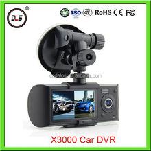 china market of electronic auto surveillance cameras hd X3000 hd dvr 1080p black box for car with auto rear view camera