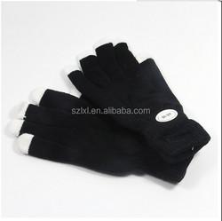 Black Nelon LED Light up FInger Gloves /LED NELON GLOVES