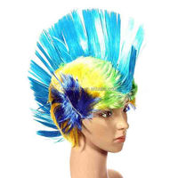 Halloween Synthetic Hair Fashion Costume Cosplay Punk Party Wigs Colorful None Lace Wig Freeshipping Cheap Mohawk