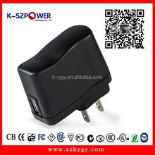 2015 k-47 5w series ac dc 220v 9v ac adaptor 9Volt 500ma switching power supply with CE UL