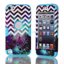 new desigh robot combo tpu+pc phone shockproof case cover for iPod touch 5