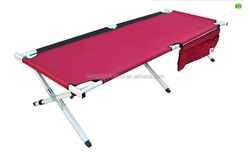 Durable two layers folding camping bed