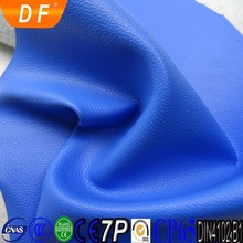 Blue Scratch Resistant PVC Leather For Sofa DAFENG LEATHER