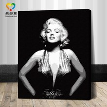 famous woman oil painting by numbers 40*50 character canvas painting