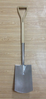 Stainelss Digging Spade, Stainless Garden tools, FSC ash wood handle, Chinese manufacture