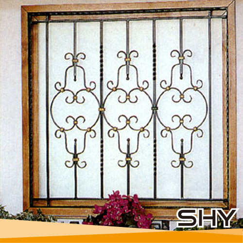 Modern wrought iron window grill design ornamental iron for Metal window designs