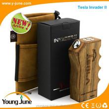 Newest original YoungJune Tesla invader 2/tesla invader II vapor mods box,big vapor e cigarette with adjustable voltage