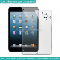 0.2mm tempered glass anti-explosion film for ipad mini/mini2