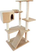 2015 China top ten selling toy deluxe cat tree,sisal cat tree,beige cat tree