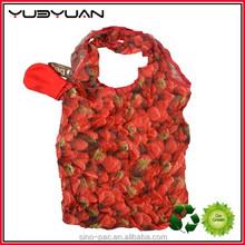 2015 Alibaba China manufacturer custom pattern easily degradable recycle washable polyester folding shopping bag