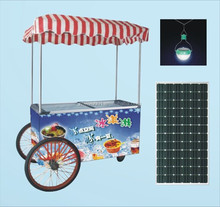 hot-selling solar removable ice cream freezer R134a 12V 24V dc compressor type for solar dc cool-chain logistics car cabinet