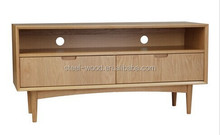 Wood TV Table/STOCKHOLM ENTERTAINMENT UNIT WITH 2 DRAWERS