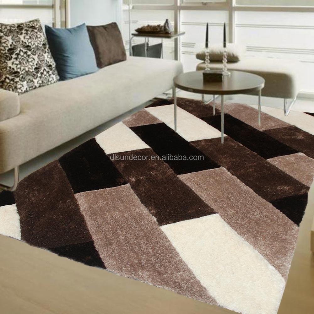 chinese goedkope polyester shaggy tapijten modern design-tapijt ...