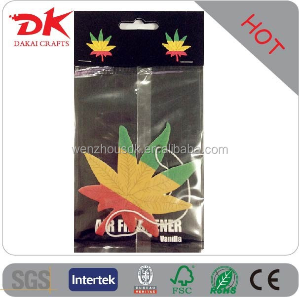 Custom 2MM thickness car air freshener wholesale , hanging car air freshener for car,paper air freshener