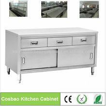 Gabinete de cocinas restaurante equipos: de acero inoxidable cocina armarios con cajones