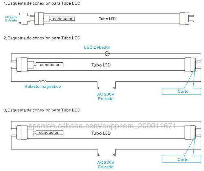 Conexion tubo led t8 images - Como instalar lamparas led ...