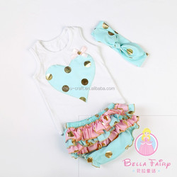 Bella Fairy latest design western baby girls boutique outfits wholesale valentines day gifts China