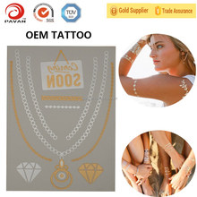 2015 New Fashionable custom body sticker temporary tattoo