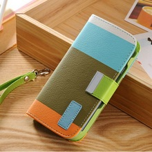 2014 Selling Well All Over the World Leather Phone Flip Cover Card Case for Samsung S5