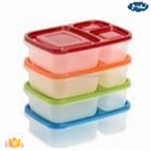plastic lunch boxes factory Wholesale 2015 Best Selling 3-Compartment Bento Lunch Box and food Containers/Plastic lunch box/Plas