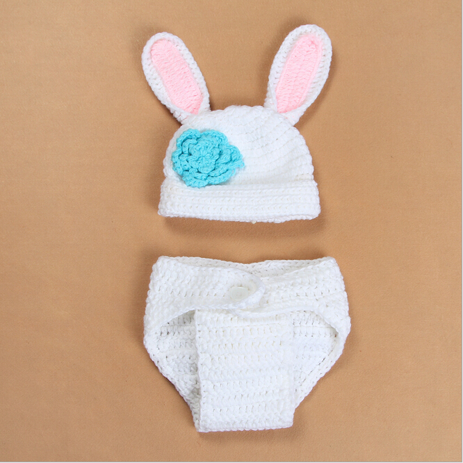 neugeborenes mädchen junge häkeln stricken kaninchen kostüm kleidung ...