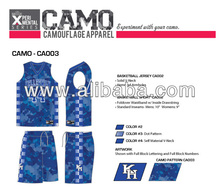 Sublimated Camo - Camouflage Basketball Jersey