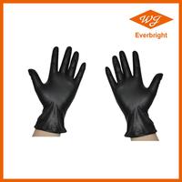 Black finger embossed nonsterile disposable Nitrile gloves for medical