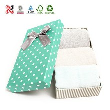 Promotion 100% cotton gift Towel set in gift box