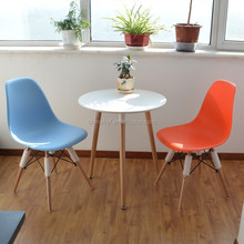 The Mid-Century Eiffel DSW eams Dining Blue Chair Wood Base AS-117D